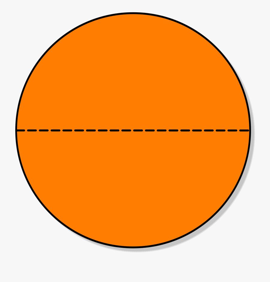File - Piechartfractionhalves - Svg - Orange Button - Jerry's Peanut Butter Cup, Transparent Clipart