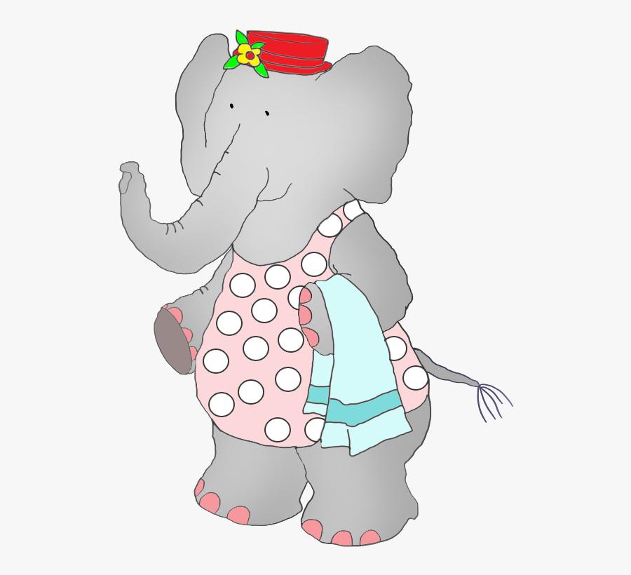 Elephant In Bathing Suit, Transparent Clipart