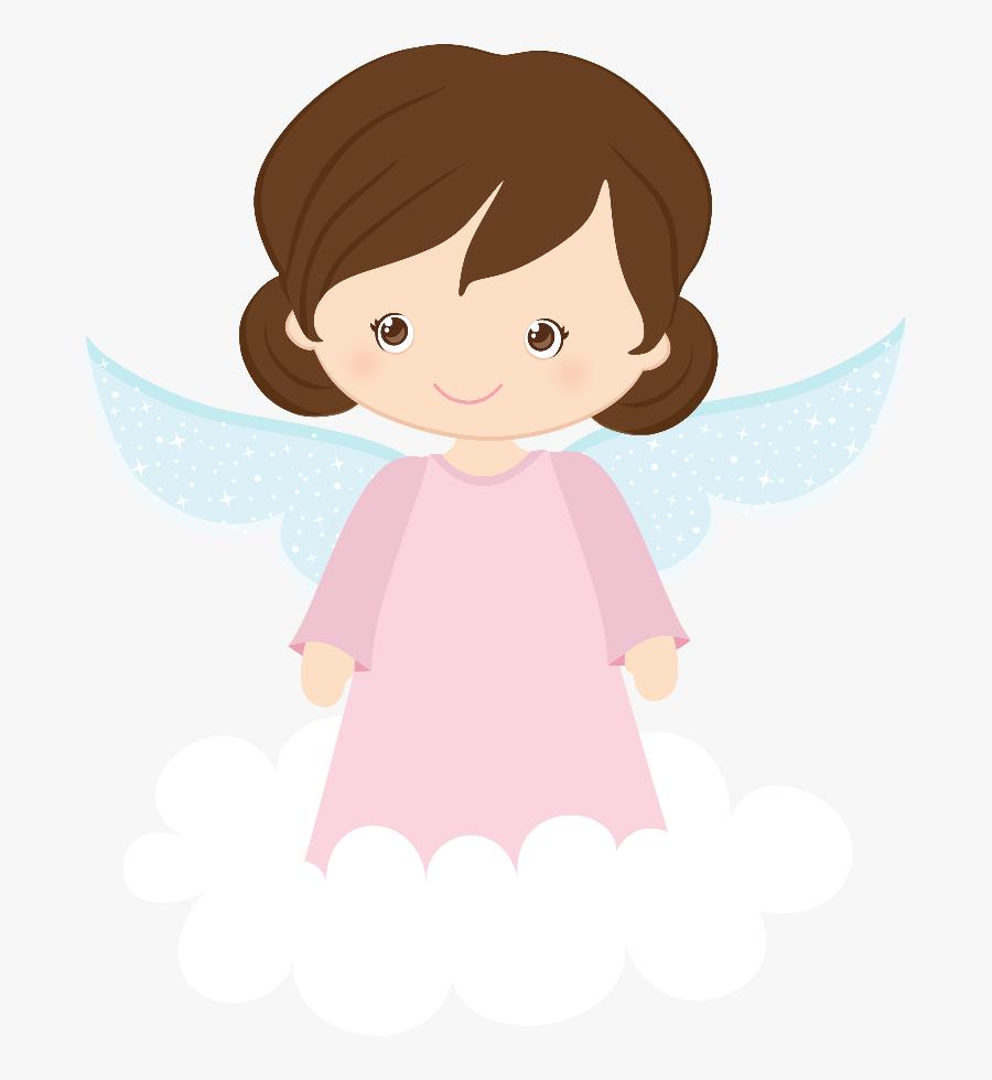 Transparent Baby Girl Clip Art - Pink Angel For Christening, Transparent Clipart