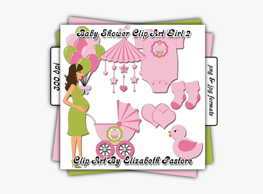 Cute Baby Girl Clip Art - Baby Shower, Transparent Clipart