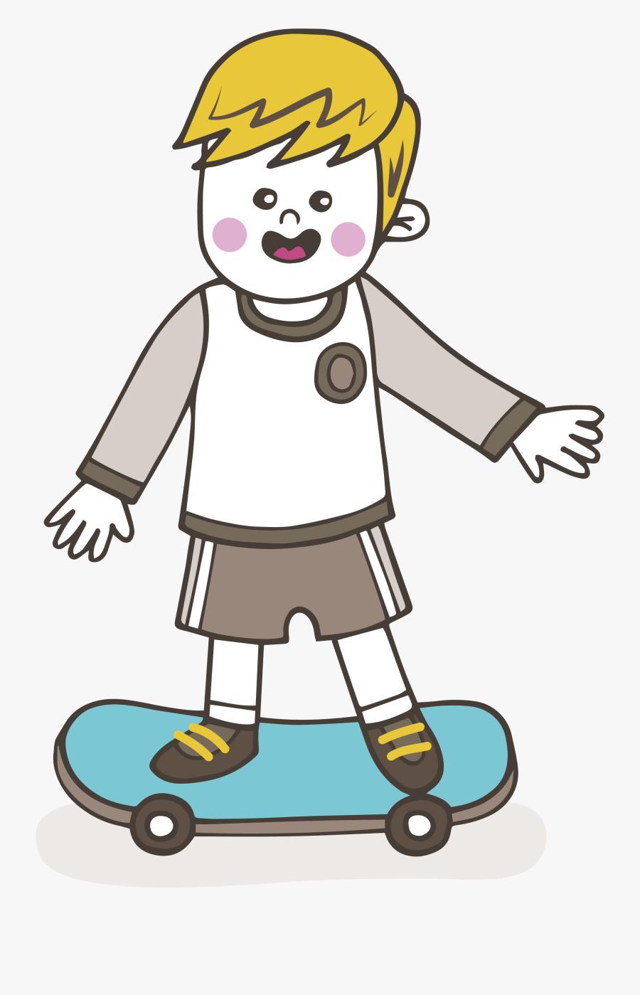 Clip Art Cartoon Skateboarding Clip Art - Skater Boy Cartoon Png, Transparent Clipart