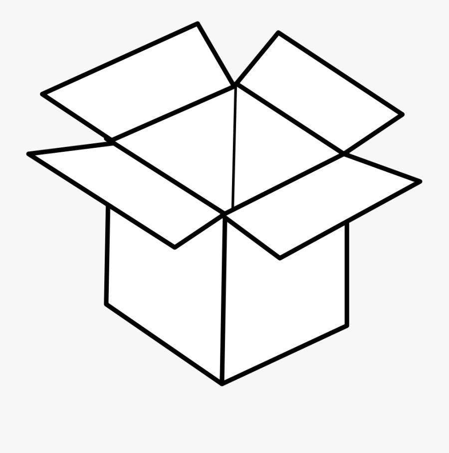 Line Art,square,angle - Box Clipart Coloring, Transparent Clipart