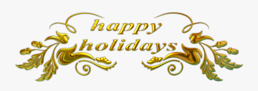 Happy Holidays Text - Happy Holidays Png, Transparent Clipart