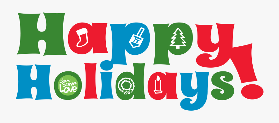 Happy Holidays Colorful Clipart , Png Download - Transparent Happy Holiday Png, Transparent Clipart