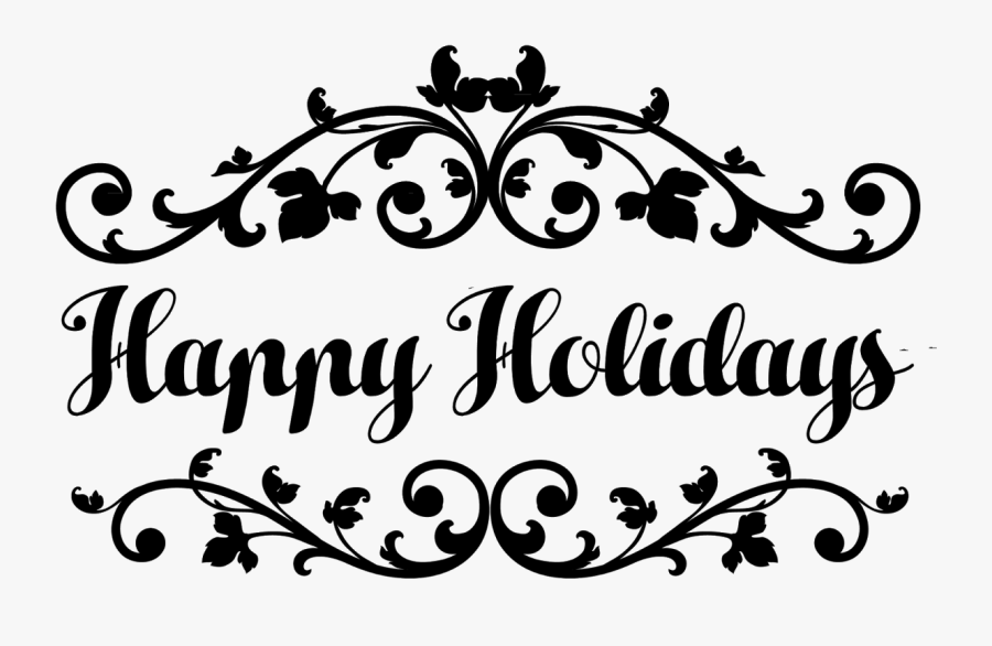 Clip Art Happy Holidays Lettering - Calligraphy, Transparent Clipart