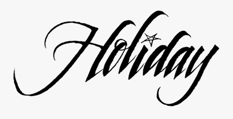 Happy Holidays Text Png - Holiday Written In Calligraphy, Transparent Clipart