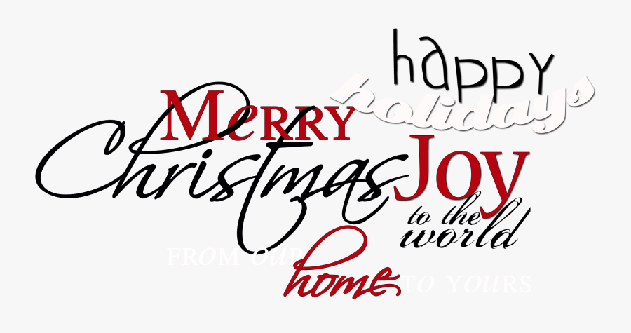 Clip Art For Christmas Cards Your - Christmas Word Art Transparent, Transparent Clipart
