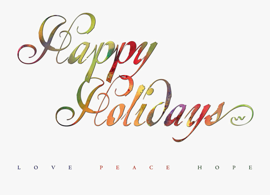 Happy Holidays Png Image With Transparent Background - Happy Holidays No Background, Transparent Clipart