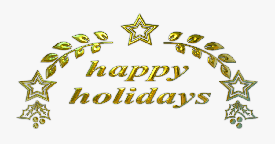 Happy Holidays Text Png, Transparent Clipart