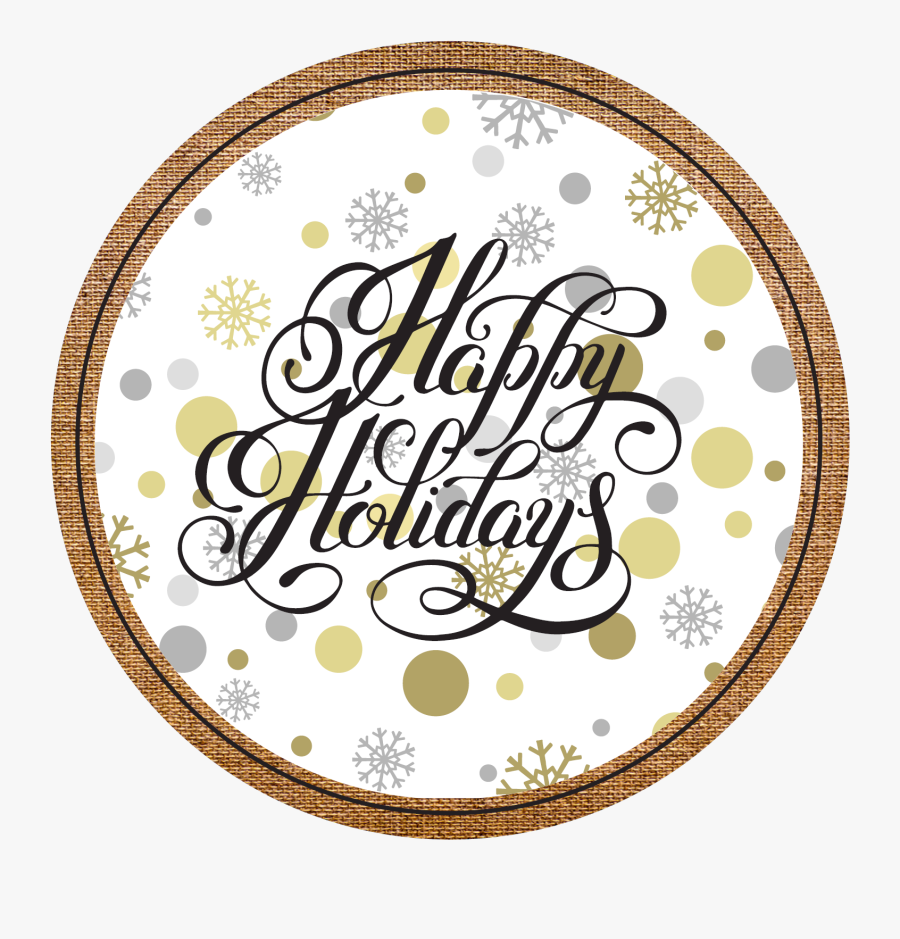 Happy Holidays Gold Vector, Transparent Clipart