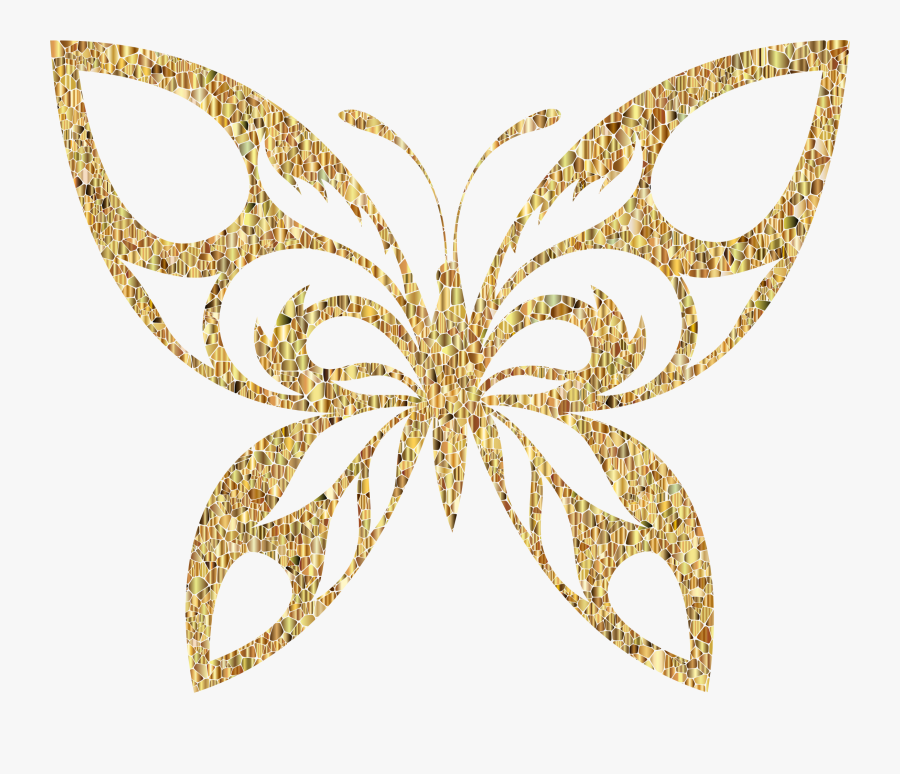 Collection Of Free Golde - Pink And Gold Butterflies, Transparent Clipart