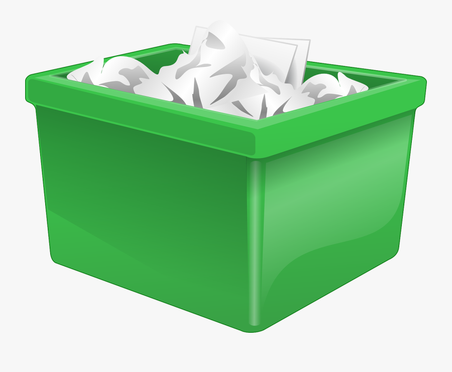 Box Filled With Paper, Transparent Clipart