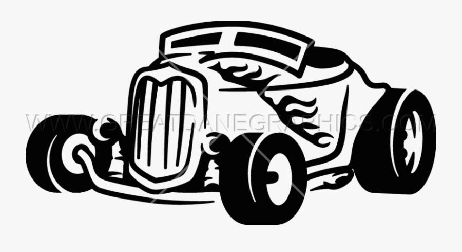 Clip Art Rat Rod Clip Art - Black And White Hotrod Clipart, Transparent Clipart
