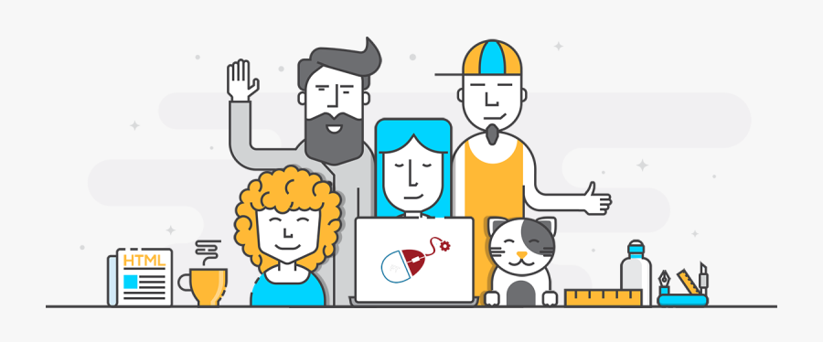 Ivica Deli The Man - Our Team Flat Design, Transparent Clipart