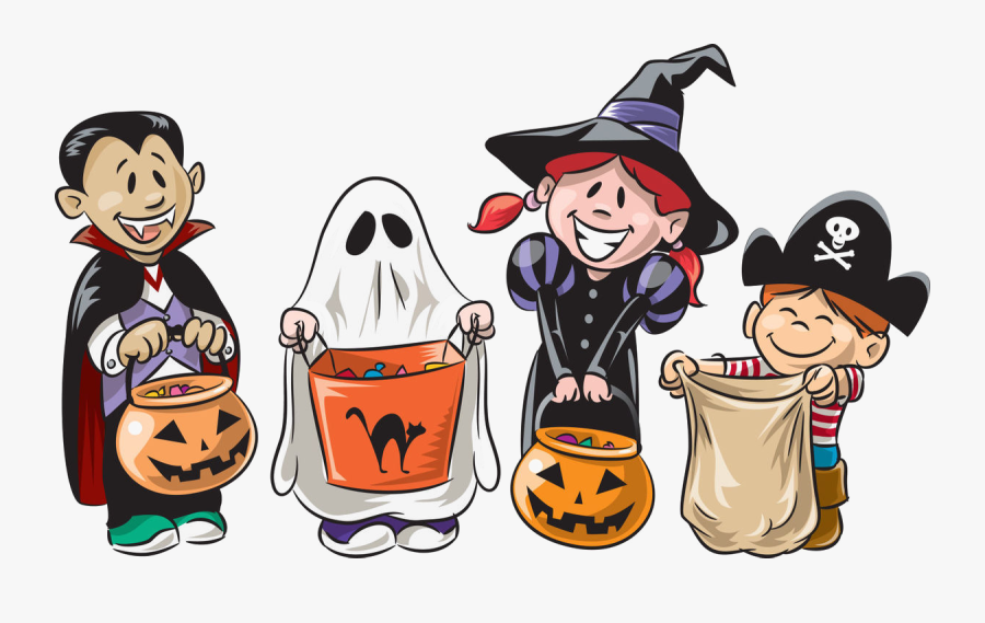 Trick Or Treat Png Image Transparent - Cartoon Trick Or Treaters, Transparent Clipart