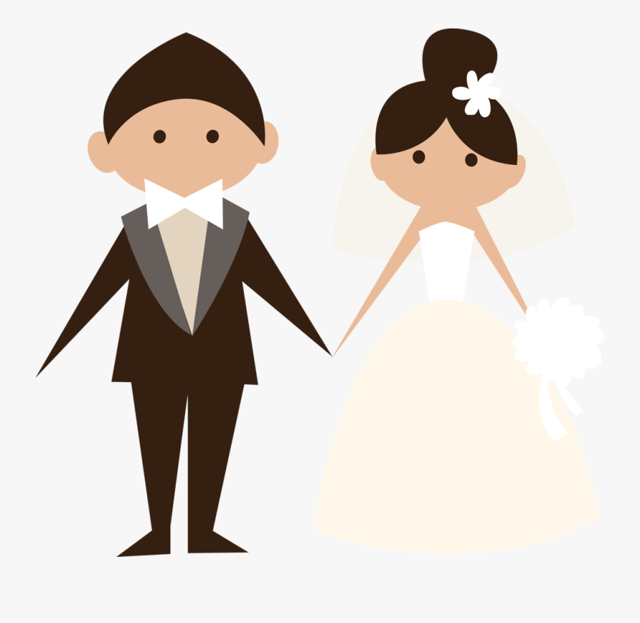 Transparent Marriage Clipart Free - Bride And Groom Transparent Background, Transparent Clipart