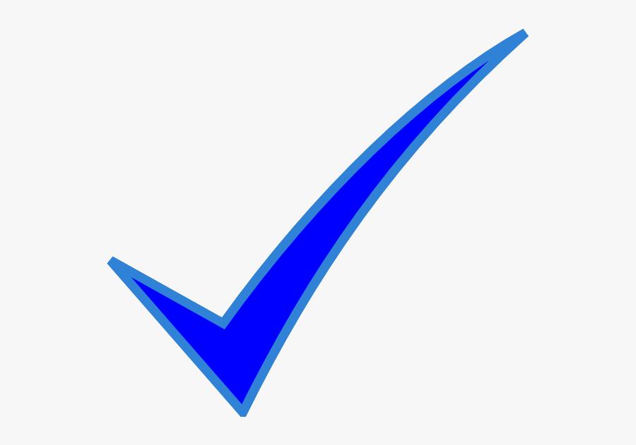 Thumb Image - Blue Check Mark Clip Art, Transparent Clipart