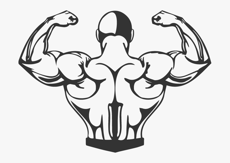 Guy Thinking Png -muscle Drawing Png - Body Builder Back Clipart, Transparent Clipart