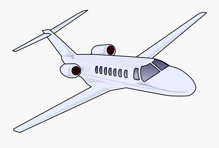Business Jet - Private Jet Clipart Transparent, Transparent Clipart
