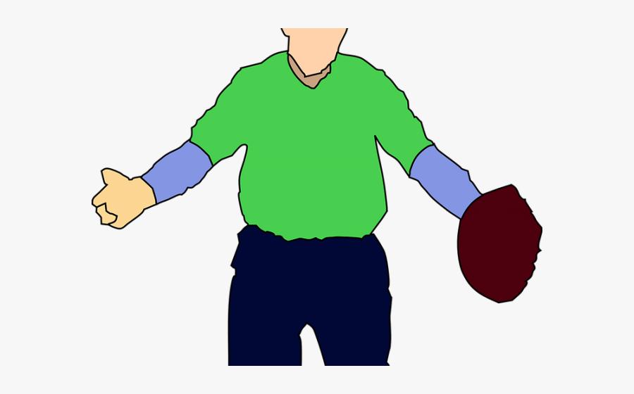 Gloves Clipart Worker - Baseball Player Clipart, Transparent Clipart