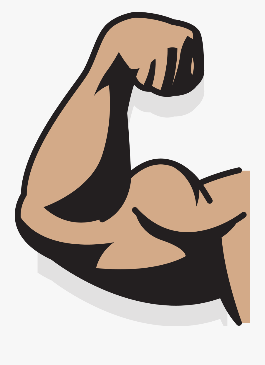 Clip Art Collection Of Free Drawing - Cartoon Arm Muscle Png, Transparent Clipart