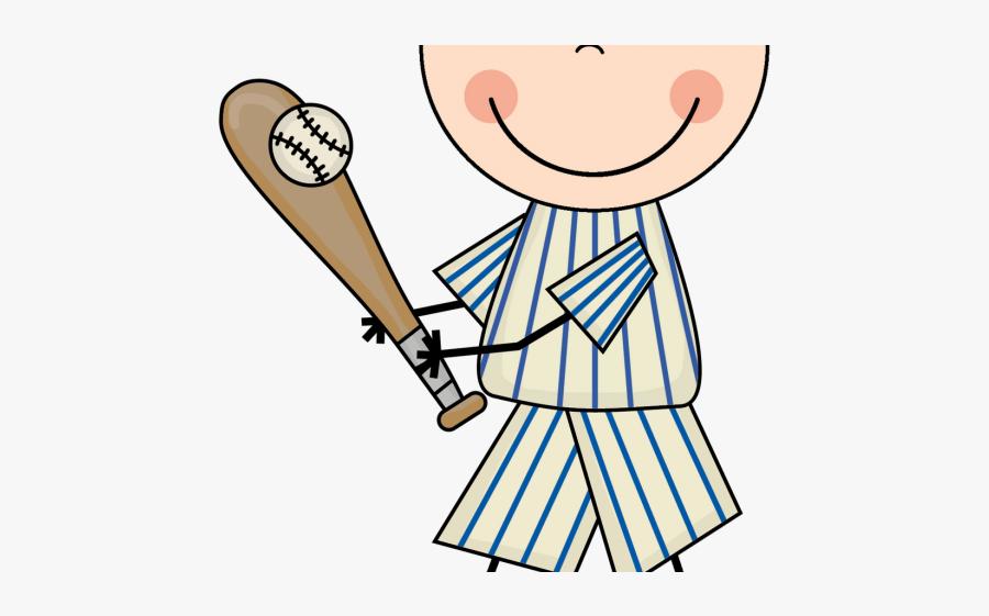 Baseball Player Clipart - Kids Baseball Clip Art, Transparent Clipart