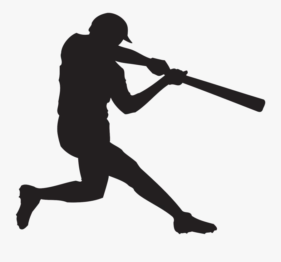 Banner Transparent Baseball Banner Clipart - Baseball Player Batting Clipart, Transparent Clipart