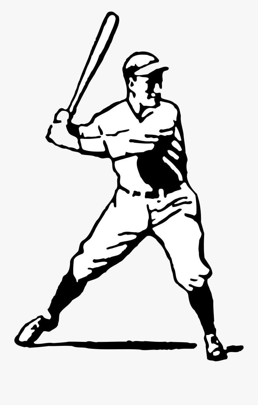 Monochrome Photography,arm,player - Vector Flat Baseball Batter, Transparent Clipart