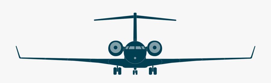 Global Bombardier Business Aircraft - Bombardier Global 6000 Blueprint, Transparent Clipart