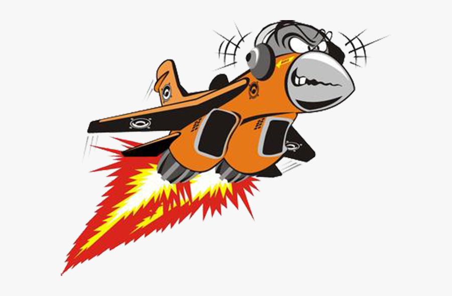 Airplane Jet Aircraft Fighter Aircraft Cartoon - Cartoon Fighter Jet, Transparent Clipart