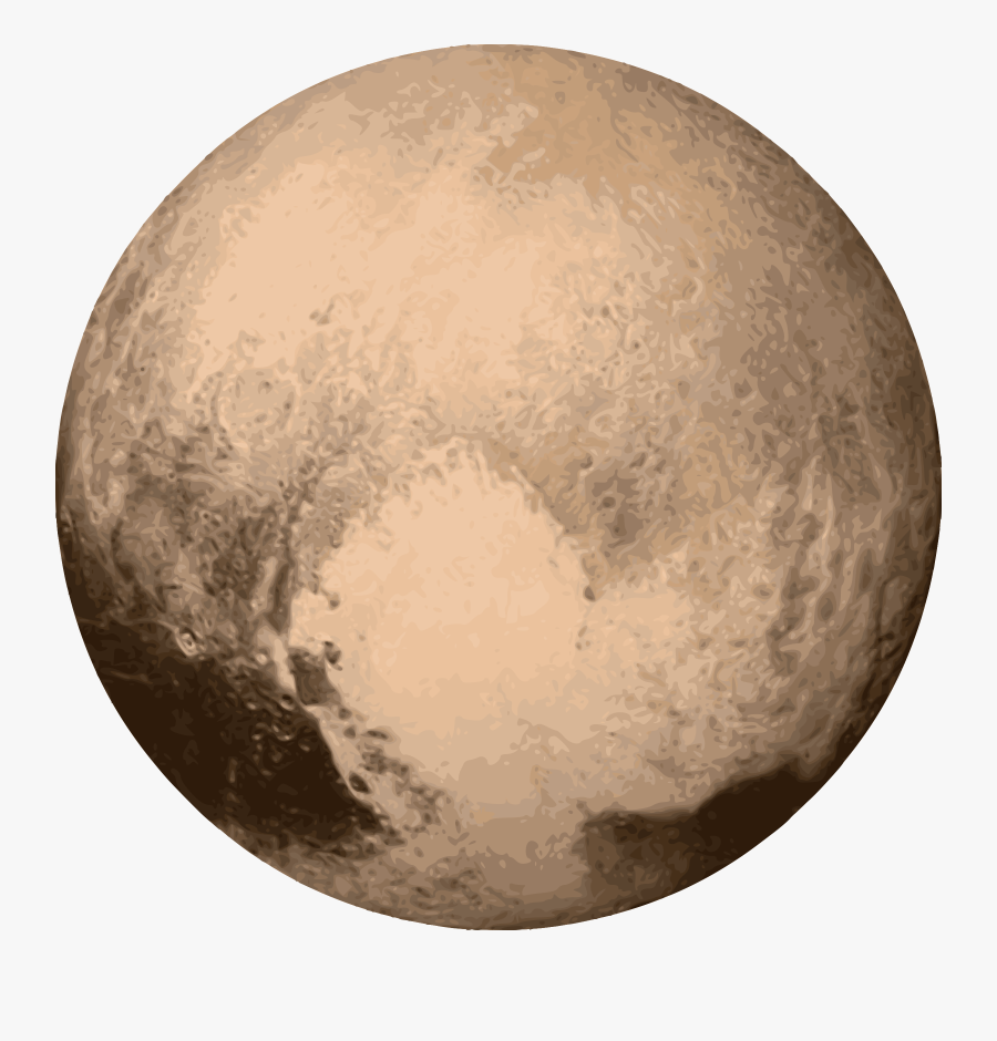 Pluto 180 Degree Face From Hubble Telescope Clipart - Pluto Planet Transparent Background, Transparent Clipart