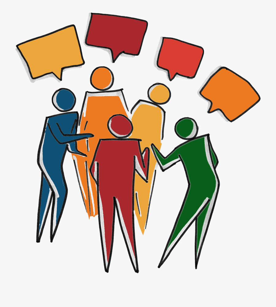 Inclusive Diverse Team Group Of People Talking Clipart- - Group Of People Talking Clipart, Transparent Clipart