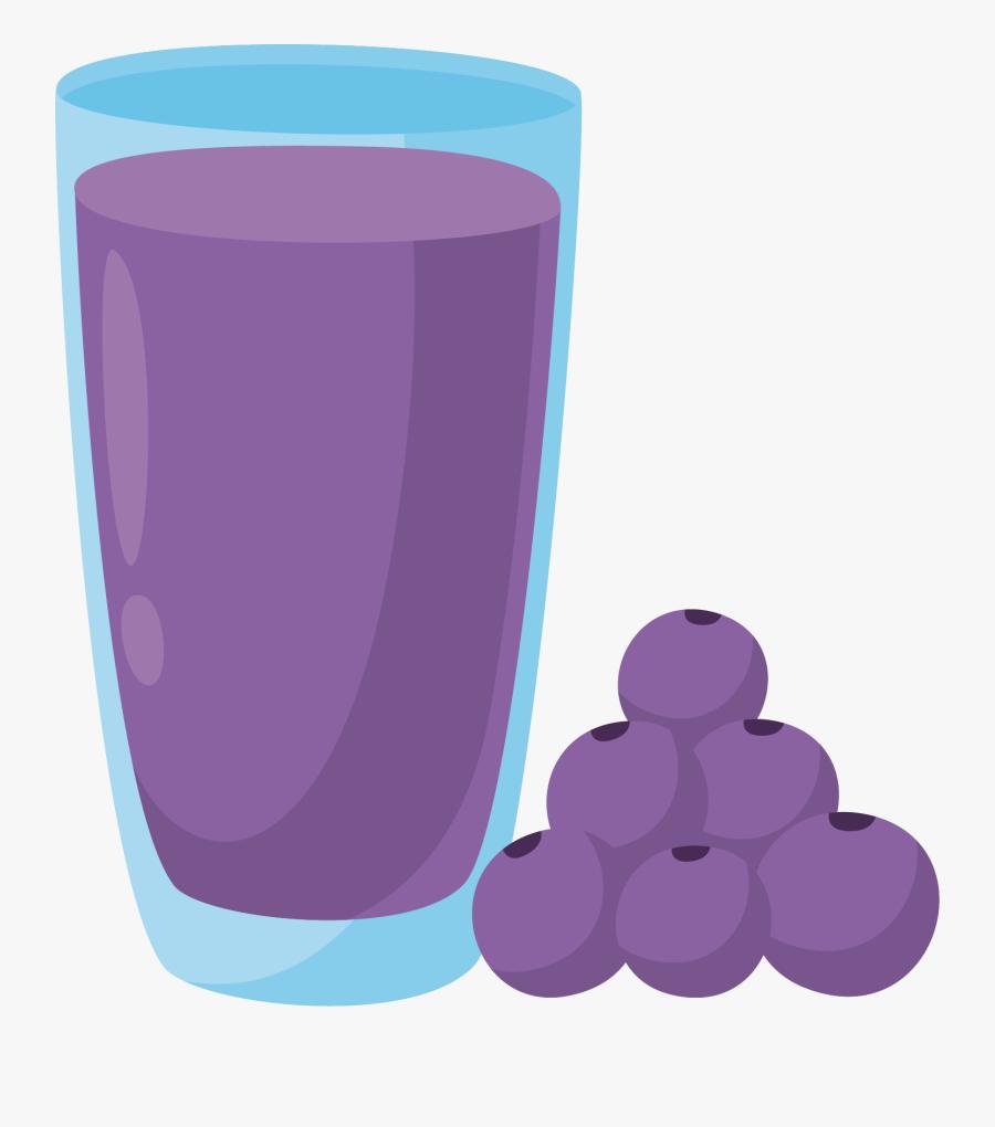 Juice Clipart Grape Juice - Glass Grape Juice Clipart, Transparent Clipart
