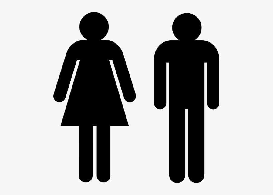 Public Toilet Bathroom Woman - Toilet Male Female Signs, Transparent Clipart