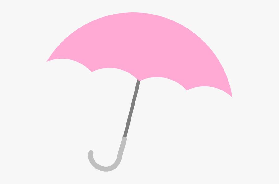 Beach Umbrella Clip Art Free Vector For Free Download - Baby Shower Pink Umbrella, Transparent Clipart
