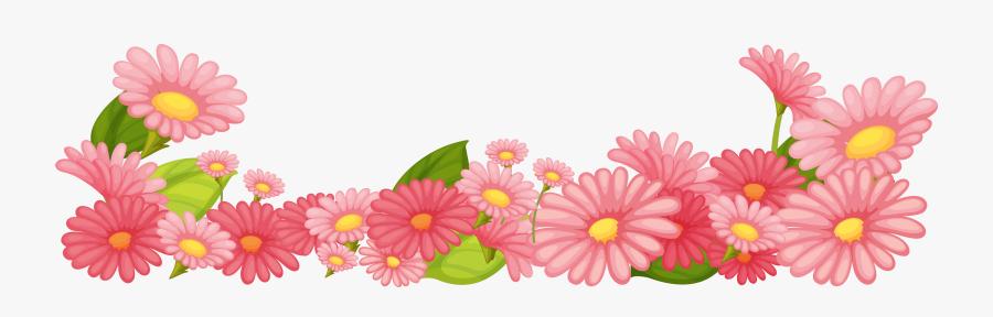 Transparent April Flowers Clipart - Flower Garden Border Clip Art, Transparent Clipart