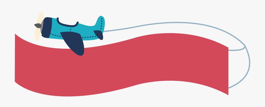 Clip Art Plane Banner Clipart - Banner Airplane Clipart Png, Transparent Clipart