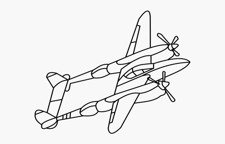 Line Art,angle,area - Ww2 Fighter Planes Drawing, Transparent Clipart