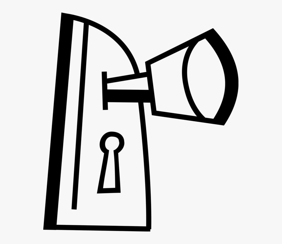 Vector Illustration Of Door Knob Or Door Handle Manually, Transparent Clipart