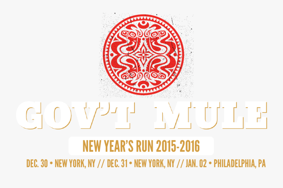 New Years Eve 2015 Png - Gov T Mule Quattro Dose, Transparent Clipart