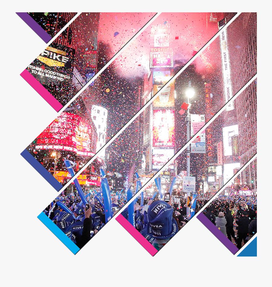 New York Time Square Happy New Year, Transparent Clipart