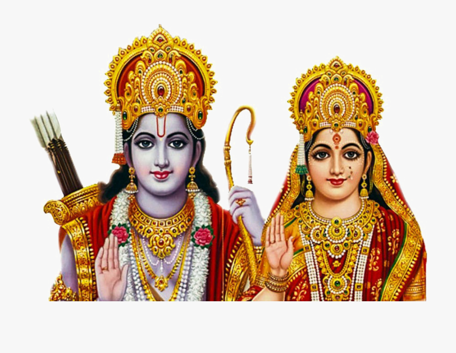 Lord Rama Png Free Image - God Ram And Sita, Transparent Clipart