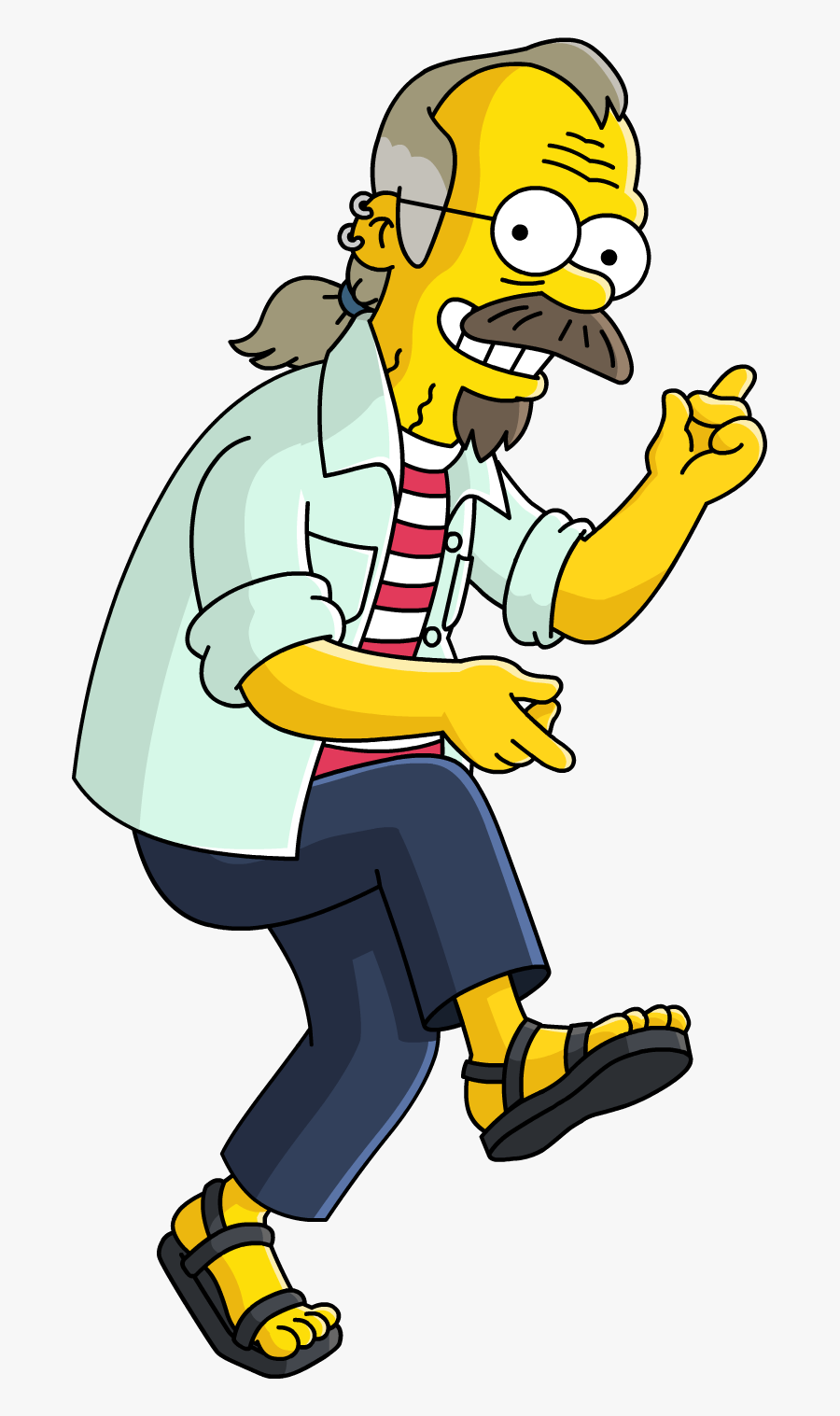 Ned Flanders Dad, Transparent Clipart