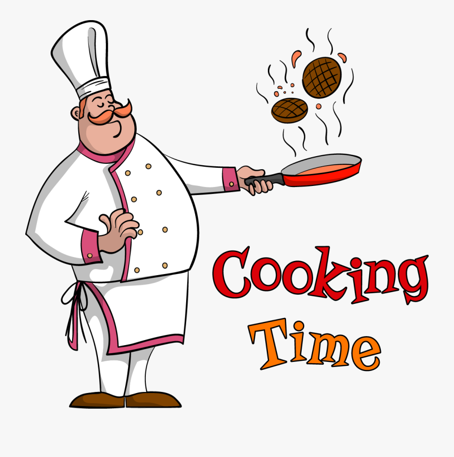 Picture Library Chef Food Pan Time Transprent Png - Chef Cooking Clipart, Transparent Clipart