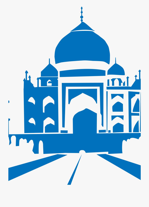 Taj Best India Pinterest - Clip Art Of Taj Mahal, Transparent Clipart