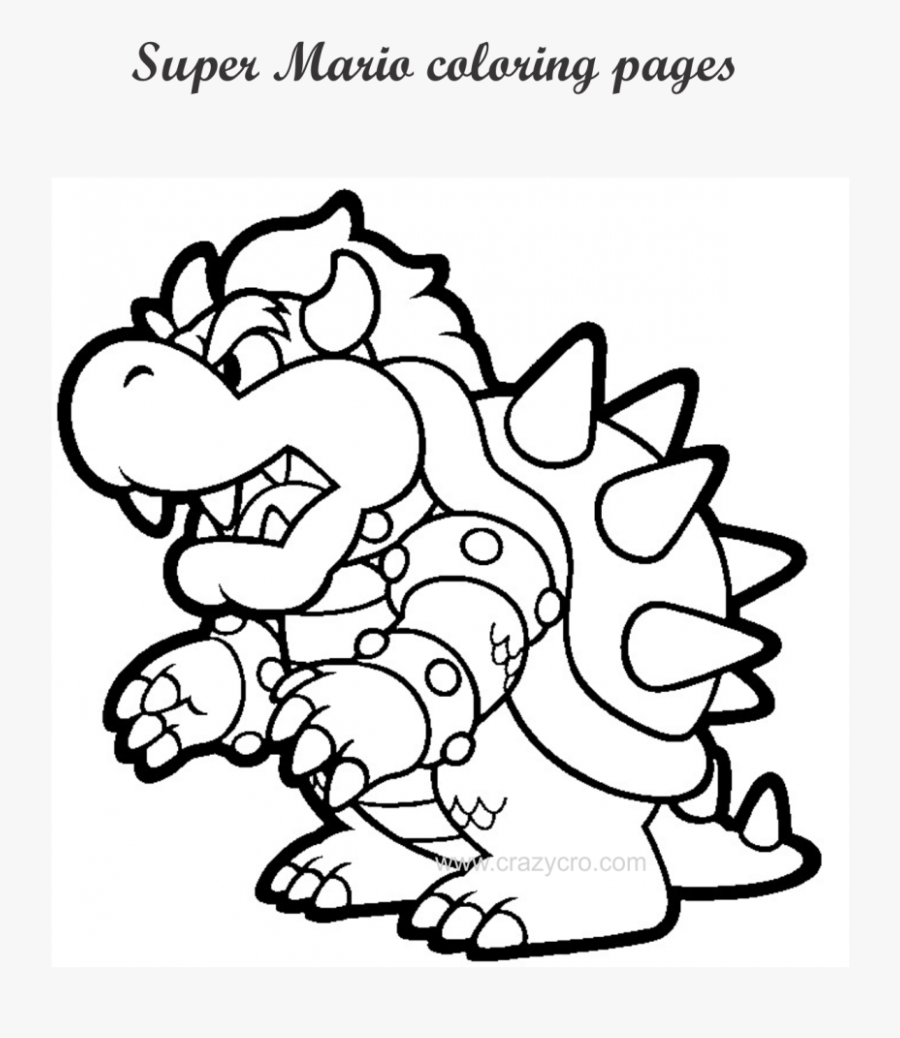 Super Mario Coloring Pages Free Page For Kids Print Mario Coloring Pages Printable Free Transparent Clipart Clipartkey