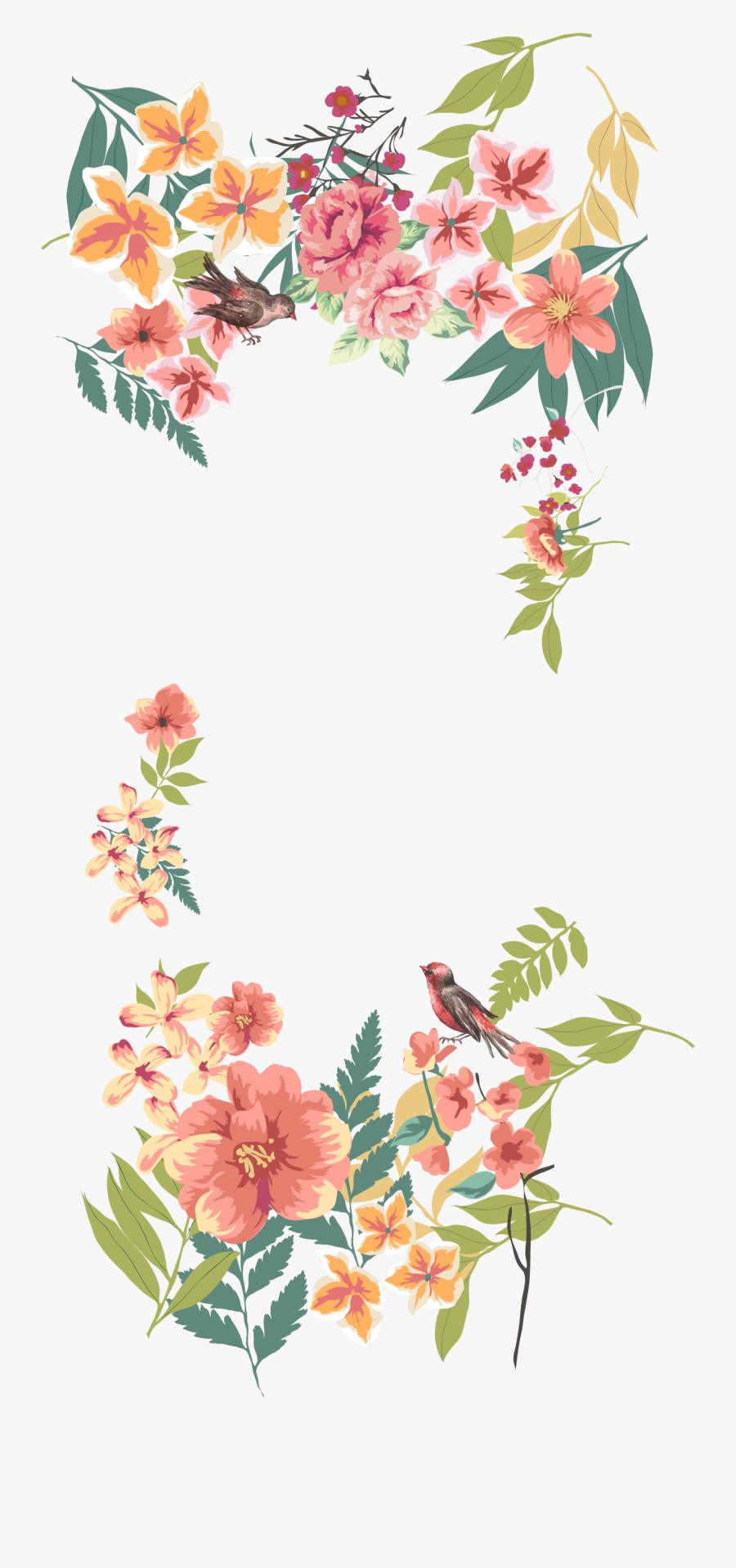 Flower Euclidean Vector Floral Design - Transparent Flower Border Vector Png, Transparent Clipart
