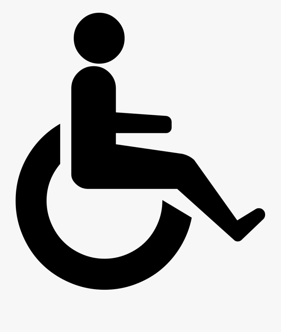Person In Wheelchair Icon, Transparent Clipart