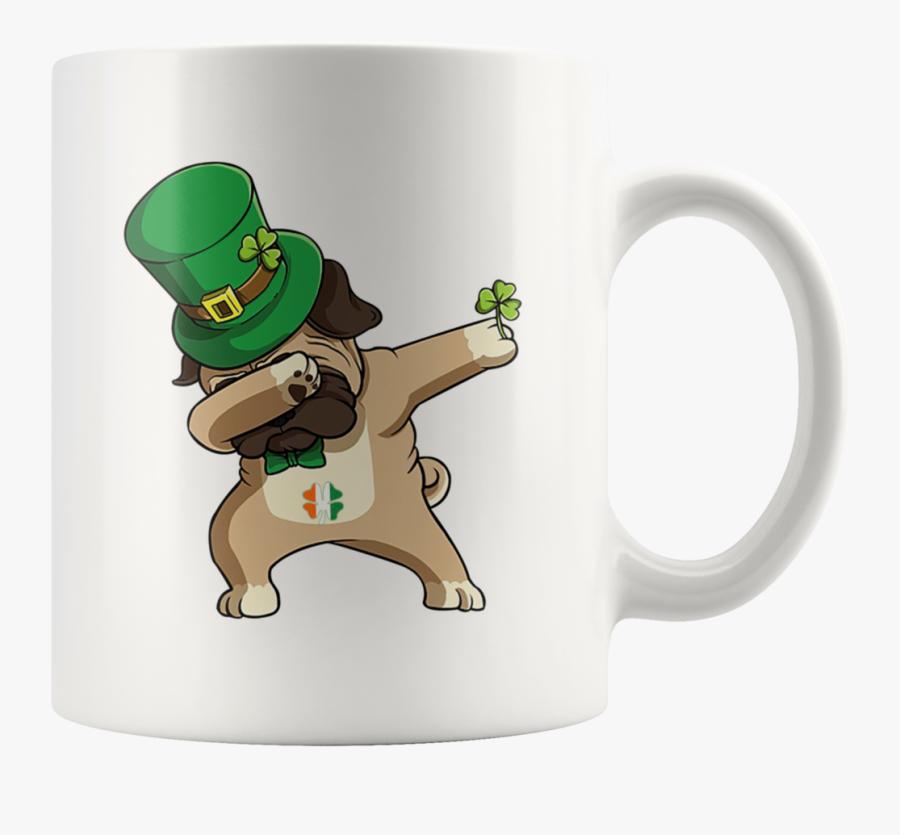 "St Patrick""s Day Leprepug Dabbing Leprechaun Pug Mug - Patricks Day Pug Leprechaun, Transparent Clipart"