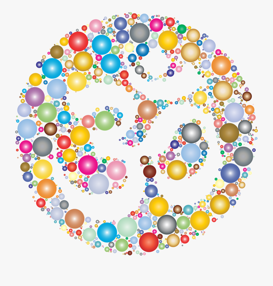 Colourful Om, Transparent Clipart